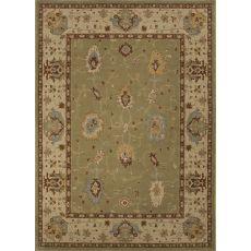Classic Oriental Pattern Green/Tan Wool Area Rug (7.10X9.10)