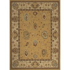 Classic Oriental Pattern Yellow/Taupe Wool Area Rug (7.10X9.10)