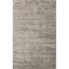 Luxury Solid Pattern Taupe/Tan Art Silk Area Rug (9X12)