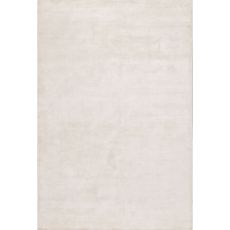 Luxury Solid Pattern Ivory/White Art Silk Area Rug (9X12)