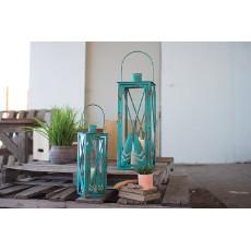 Blue Oar Lanterns (set of 2)