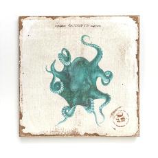 Octopus Lithograph Art