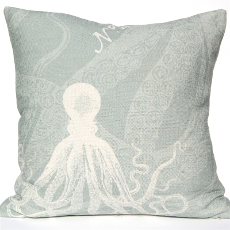 Octopus Pillow - Silverberry