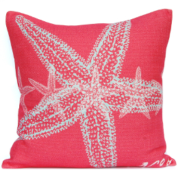 Starfish Coral Accent Pillow