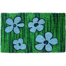 Blue Floral Non Slip Coir Doormat