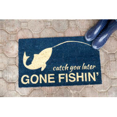 Gone Fishin Door Mat