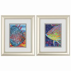 Tropical Fish Set of 2 Framed Beach Wall Art