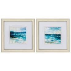 Ocean Break Set of 2 Framed Beach Wall Art