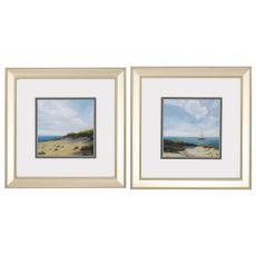 Shoreline Marshes Set of 2 Framed Beach Wall Art