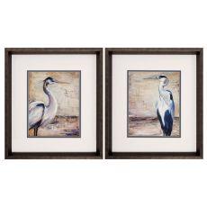 Shore Birds Set of 2 Framed Beach Wall Art