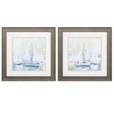 Sail  Set of 2 Framed Beach Wall Art