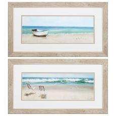 Tides View Set of 2 Framed Beach Wall Art