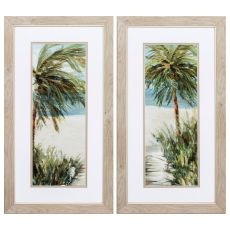 Beachwalk Set of 2 Framed Beach Wall Art