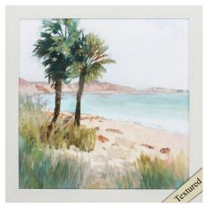 Coastal Palms I Framed Beach Wall Art