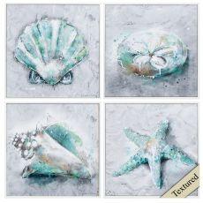 Sealife Set of 4 Framed Beach Wall Art