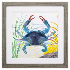 Sea Creature Crab Framed Beach Wall Art