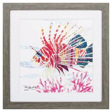 Sea Creature Fish Framed Beach Wall Art