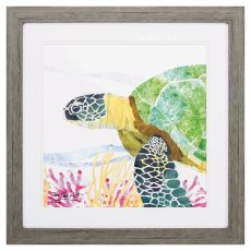 Sea Creature Turtle Framed Beach Wall Art