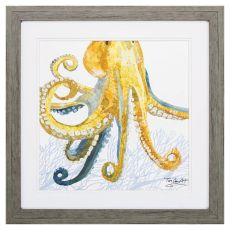 Sea Creature Octopus Framed Beach Wall Art