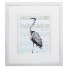Grey Heron I Framed Beach Wall Art