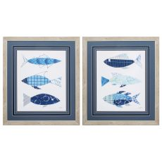 With The Flow Set of 2 Framed Beach Wall Art