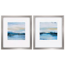 Dreaming Blue Set of 2 Framed Beach Wall Art