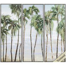 Palm Breeze Set of 3 Framed Beach Wall Art