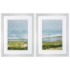 Coastal Overlook Set of 2 Framed Beach Wall Art