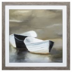 Boat Friends Framed Beach Wall Art