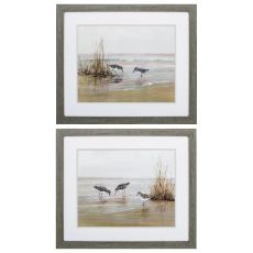 Early Risers Set of 2 Framed Beach Wall Art