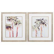 Light & Bright Palms Set of 2 Framed Beach Wall Art