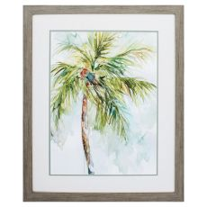 Palm Breezes I Framed Beach Wall Art