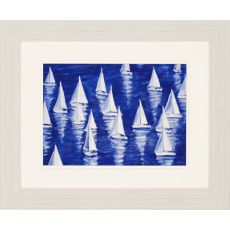 Blue Regatta Sailobats Framed Art