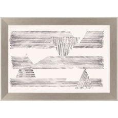 Stagger Triangles II Framed Art