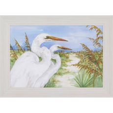Great Egrets Framed Art
