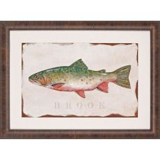 Brook Trout Framed Art