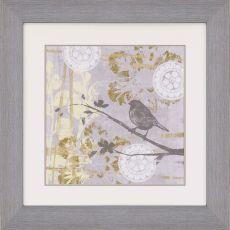 Serene Bird and Branch I Framed Art