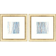 Aqua Sensations Pk/2 Framed Art