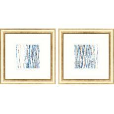 Aqua Sensations Pk/2 Framed Art