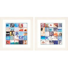 Beach/Surf Pk/2 Framed Art