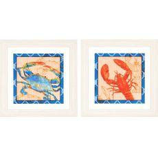 Crab/Lobster Pk/2 Framed Art