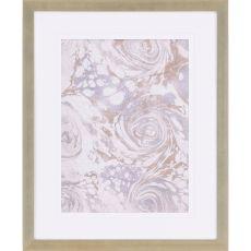 Marbleized I Framed Art