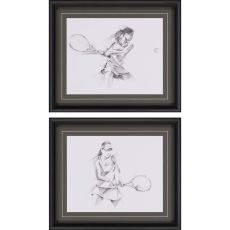 Tennis Sketch Pk/2 Framed Art