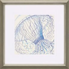 Vintage Jellyfish II Framed Art