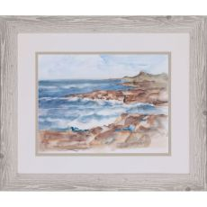 Coastal Watercolor VI Framed Art