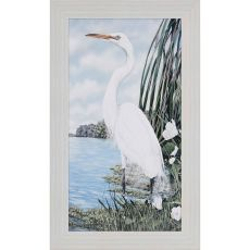 Great White Egret Framed Art