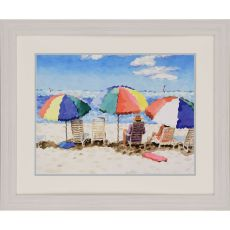 Beach Chairs Framed Art