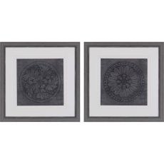 Rosettes I Pk/2 Framed Art