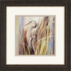 Coastal Heron Framed Art