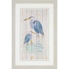 Blue Heron Duo Framed Art